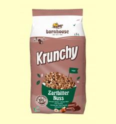 Krunchy de Chocolate Negro con Avellanas Bio - Barnhouse - 375 gramos