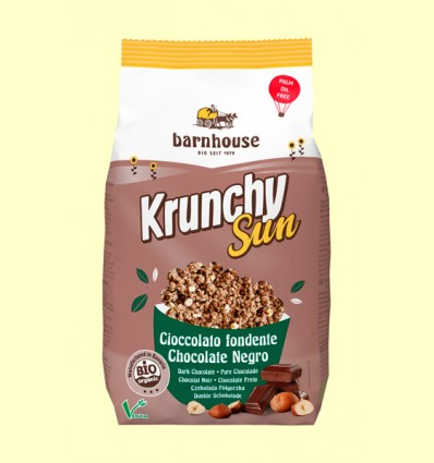Krunchy Sun Chocolate Negro y Avellana Bio - Barnhouse - 375 gramos
