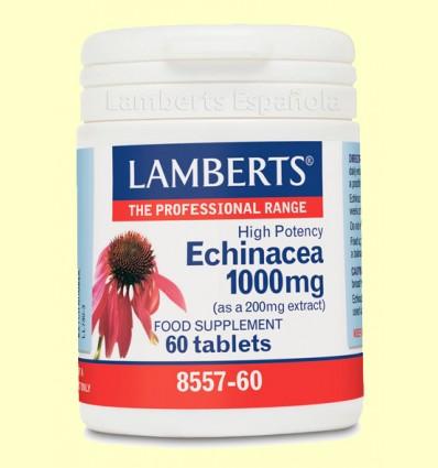 Equinácea 1.000 mg - Hierbas - Plantas - Lamberts - 60 tabletas