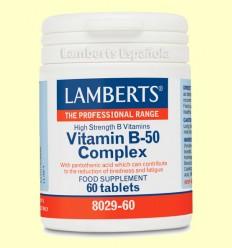 Complejo de vitamina B-50 - Lamberts - 60 tabletas