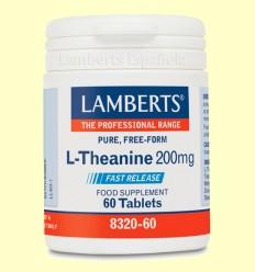 L-Teanina 200 mg - Lamberts - 60 tabletas