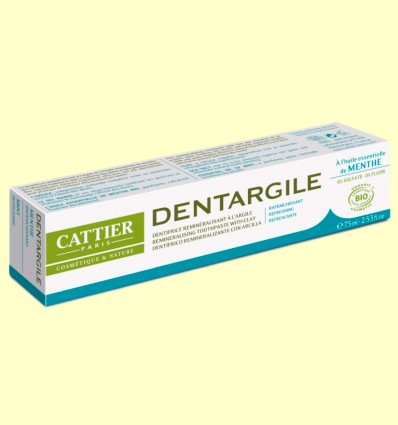 Dentífrico Dentargile Menta Bio - Cattier - 75 ml