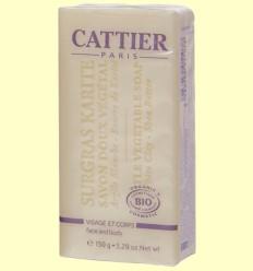 Jabón Karité Bio - Piel Mixta - Cattier - 150 gramos