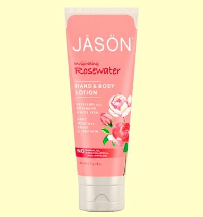 Loción de Manos y Cuerpo Agua de Rosas - Jason - 227 gramos