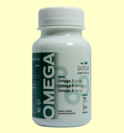 Omega 3-6-9 720 mg - Sotya - 110 perlas