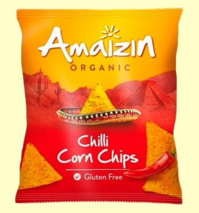 Corn Chips Maíz Chilli Bio - Amaizin - 75 gramos