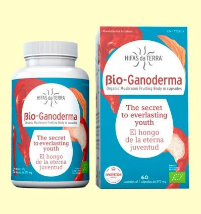 Bio Ganoderma - Reishi y Vitamina D - Hifas da Terra - 60 cápsulas