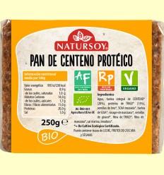 Pan de Centeno Proteico Bio - Natursoy - 250 gramos