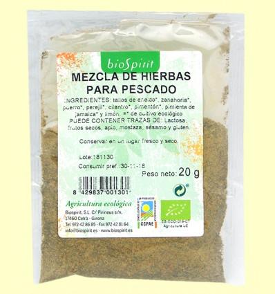 Mezcla de Hierbas Bio para Pescado - BioSpirit - 20 gramos