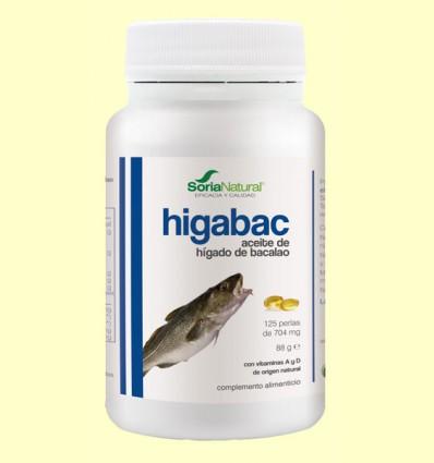 HigaBac - Aceite de Hígado de Bacalao - Soria Natural - 125 perlas