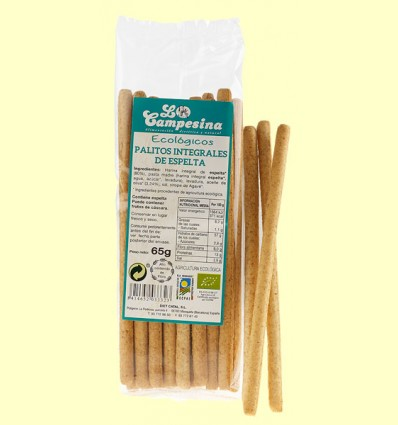 Palitos Integrales de Espelta Eco - la Campesina - 65 gramos