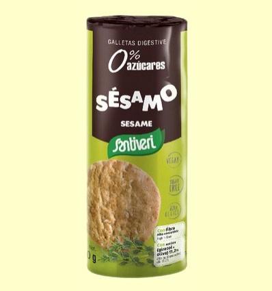 Galletas Digestive Sésamo - Santiveri - 190 gramos