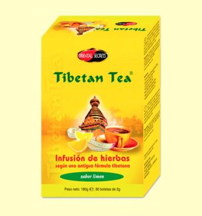 Tibetan Tea - Infusión de hierbas - Sabor Limón - 90 bolsitas