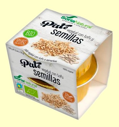 Paté Vegetal con Tofu y Semillas - Soria Natural - 100 gramos