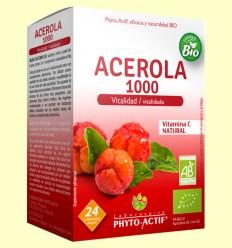 Acerola Bio 1000 Vitalidad - Phyto Actif - 24 comprimidos masticables