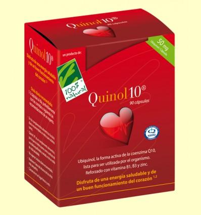 Quinol10 50 mg - Coenzima Q-10 - 100% Natural - 90 cápsulas