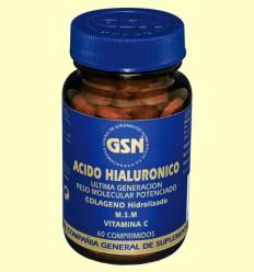 Ácido Hialurónico + Colágeno Hidrolizado + M.S.M + Vitamina C - GSN Laboratorios - 60 comprimidos