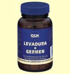 Levadura de Cerveza + Germen de Trigo - GSN Laboratorios - 150 comprimidos