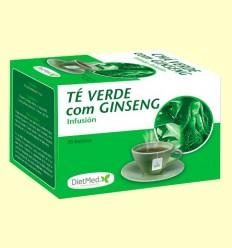 Té Verde con Ginseng Infusión - DietMed - 20 bolsitas