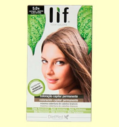 Tinte Cabello Lif Hair Colors 5.0 N - Marrón Natural - DietMed - 1 kit