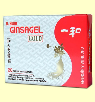 Ginsagel Gold - Extracto de Ginseng IL HWA - Tongil - 20 perlas