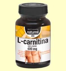 L-Carnitina con Cromo 600mg - Naturmil - 60 cápsulas