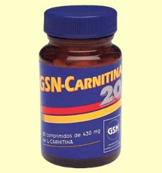 GSN Carnitina 20 - GSN Laboratorios - 80 comprimidos