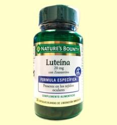 Luteína 20 mg con Zeaxantina - Nature's Bounty - 30 cápsulas