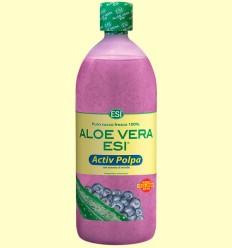 Zumo de Aloe Vera Pulpa Activa con Extracto de Arándano - Laboratorios ESI - 1 litro *