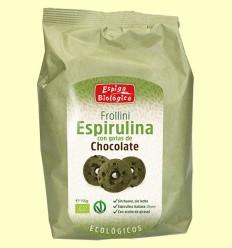 Frollini Espirulina con gotas de Chocolate Eco - Espiga Biológica - 150 gramos