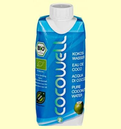 Cocowell Bio - Agua de Coco - 100% Natural - 330 ml