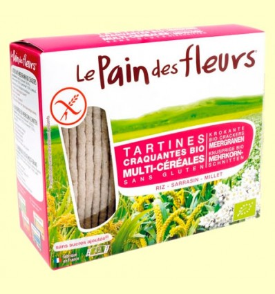 Pan de flores crujiente multi cereales Bio - Le Pain des fleurs - 150 gramos