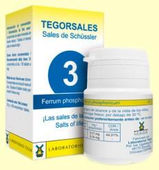 Tegorsal Nº 3 Ferrum Phosphoricum - Difosfato Férrico - Laboratorios Tegor - 350 comprimidos