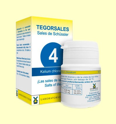 Tegorsal Nº 4 Kalium Chloratum - Cloruro Potásico - Laboratorios Tegor - 350 comprimidos