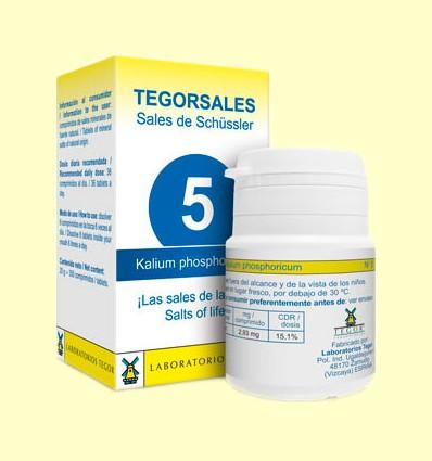 Tegorsal Nº 5 Kalium Phosphoricum - Glicerofosfato de Potasio - Laboratorios Tegor - 350 comprimidos