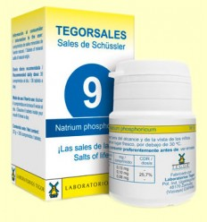 Tegorsal Nº 9 Natrium Phosphoricum - Bifosfato de Sodio - Laboratorios Tegor - 350 comprimidos