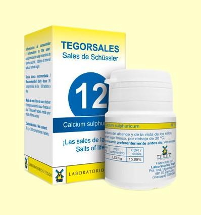 Tegorsal Nº 12 Calcium Sulphuricum - Sulfato Cálcico - Laboratorios Tegor - 350 comprimidos