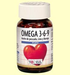 Omega 3-6-9 - Aceite de pescado, Lino y Borraja - Tongil - 60 perlas