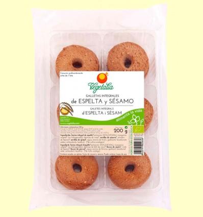 Galletas Integrales de Espelta y Sésamo Eco - Vegetalia - 200 gramos