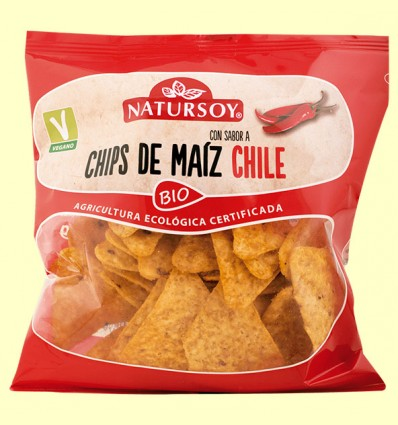 Chips de Maíz Chile Bio - Natursoy - 75 gramos
