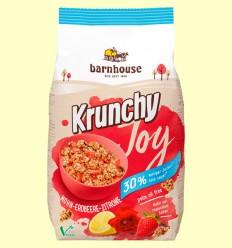 Muesli Krunchy Joy de Avena Amapola Fresa Limón - Barnhouse - 375 gramos