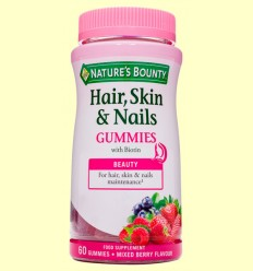 Pelo, Piel y Uñas Gummies - Nature's Bounty - 60 gominolas