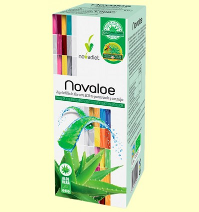 Novaloe - Jugo de Aloe Vera Eco - Novadiet - 1 litro