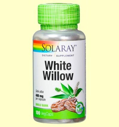 White Willow - Sauce Blanco - Solaray - 100 cápsulas