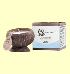 Vela de Cera de Soja Cocconut Candle Artic White - We love the planet - 1 unidad