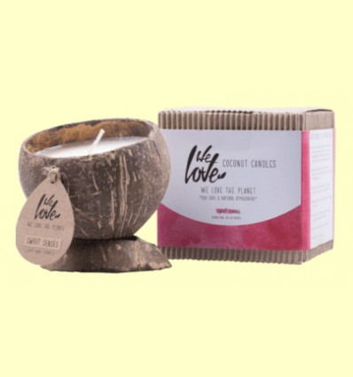 Vela de Cera de Soja Cocconut Candle Sweet Senses - We love the planet - 1 unidad