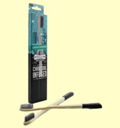 Cepillo de Bambú con Carbón Activo - My Magic Mud - 1 unidad