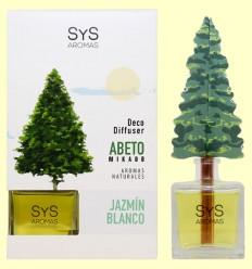 Ambientador Difusor Árbol Jazmín Blanco - Laboratorio SyS - 90 ml