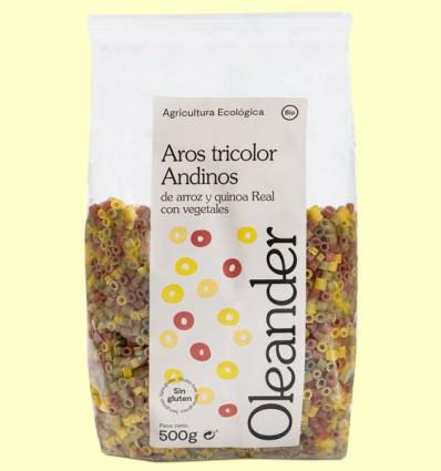 Aros Tricolor de Arroz y Quinoa Bio - Oleander - 500 gramos