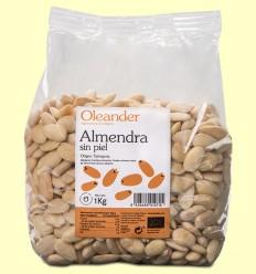 Almendra Sin Piel Bio - Oleander - 1 kg
